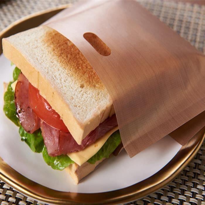 18 PCS Sacs anti-adhésifs Réutilisable dans four Pour grille-pain Pour sandwichs au fromage grillé Résistance à hautes températures