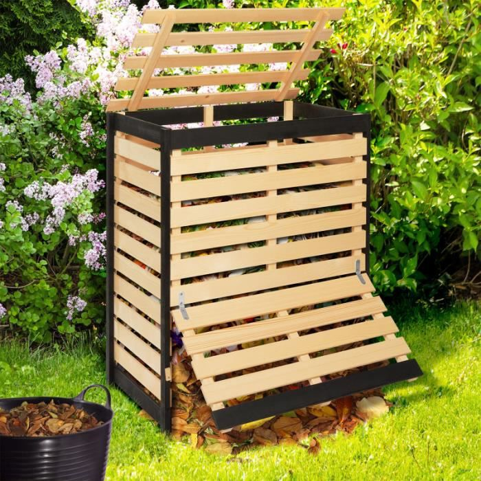 ID MARKET - Bac de compostage en bois 360L