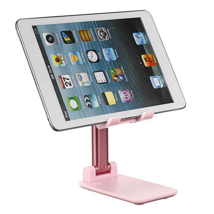 Support de Tablette Pliable Support Téléphone Réglable en hauteur Portable Bureau