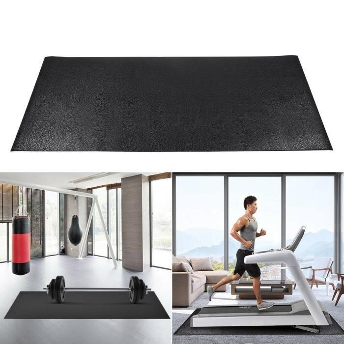KIMISS tapis de gymnastique Tapis de tapis roulant grand tapis de protection de plancher d'exercice de gymnastique de forme