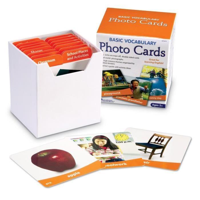 Learning Resources Cartes Photos pour les Bases du Vocabulaire - LER6079