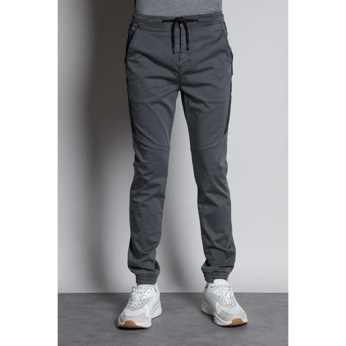 DEELUXE Pantalon slim élastiqué GRADIENT Charcoal