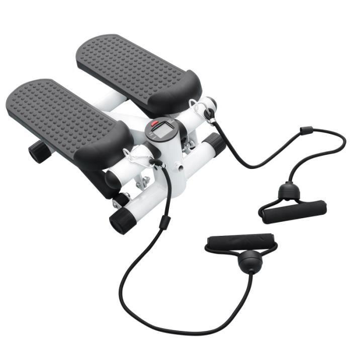 Mini vélo d'exercice multifonction Step Machine Home Gym Pedal Indoor Exerciseur avec sangle fourre-tout pour VELO D'APPARTEMENT