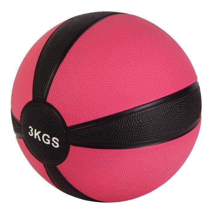 Medicine Ball 1-10 kg différents poids + couleurs Poids: 3 kg (rose)