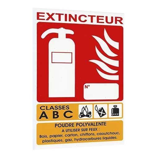 Panneau signalétique extincteur ABC
