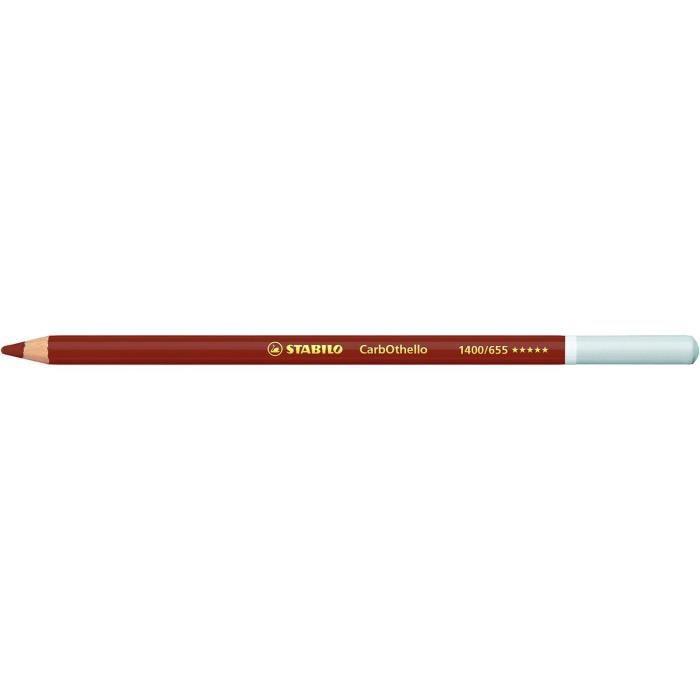 Lot de 12 Crayons de couleur Fusain Pastel CarbOthello Rouge égyptien