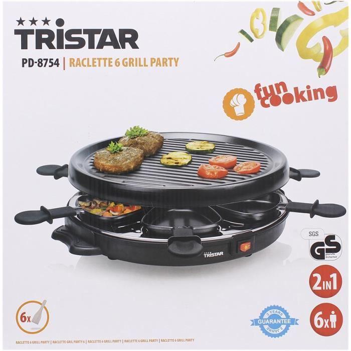 Tristar machine à raclette à 6 grill
