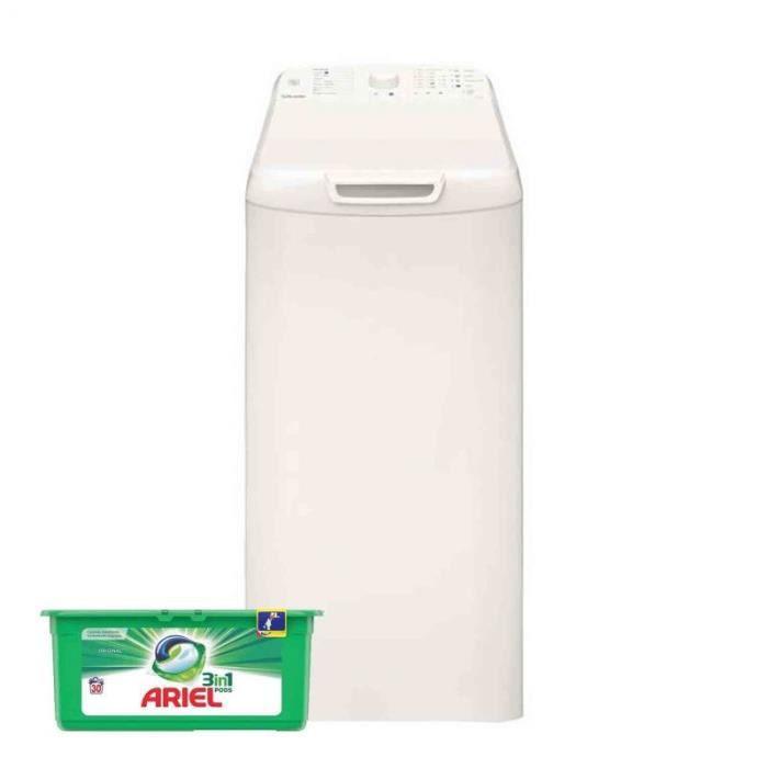 VEDETTE Lave-linge top 5.5kg 1100trs/min Tambour 42L Machine à laver 60 Blanc