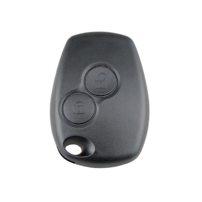 WS04528-Etui clé 2-3 B pour Renault Megane Modus Espace Laguna Duster Logan Dacia noir 26