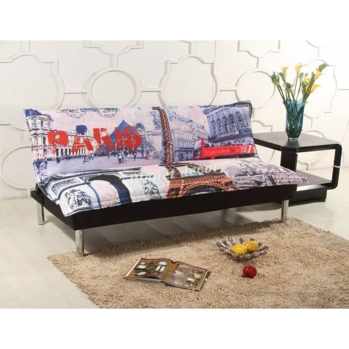 canap clic clac design paris achat vente clic clac les soldes sur cdiscount cdiscount. Black Bedroom Furniture Sets. Home Design Ideas