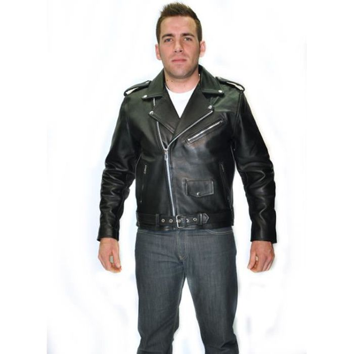 blouson noir moto biker cuir homme perfecto s achat. Black Bedroom Furniture Sets. Home Design Ideas