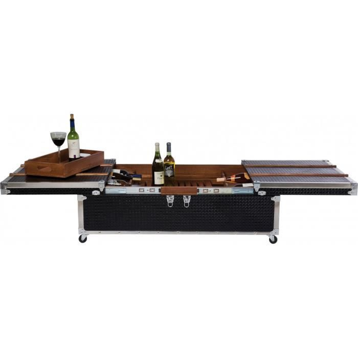 Table basse bar elegance noir kare design achat vente table basse table b - Table basse bar noir ...