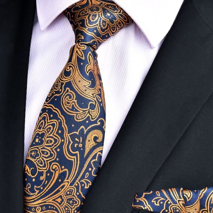 Tonic rayures bleu fait à la Main Classique Homme Cravate Fait à la Main Cravate Mariage Cravate