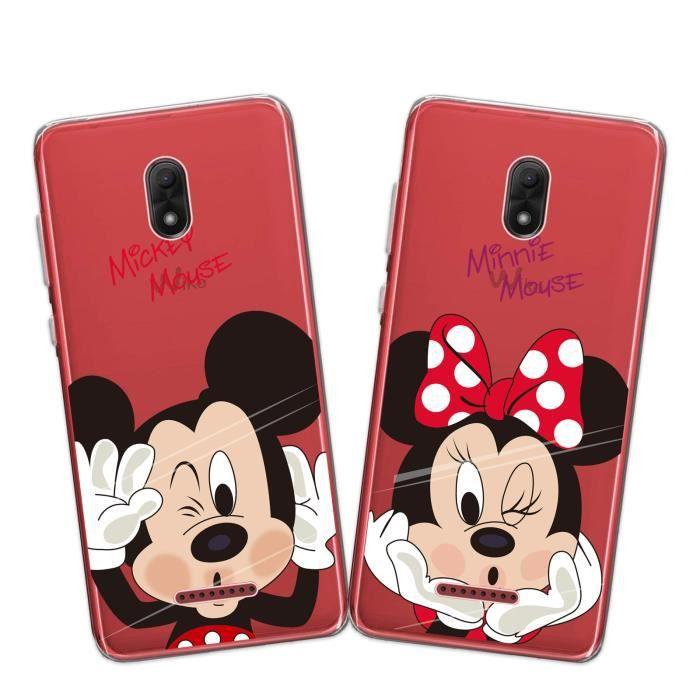 2 X Coque Wiko View Go, Disney Mouse Doux Souple Transparent TPU ...