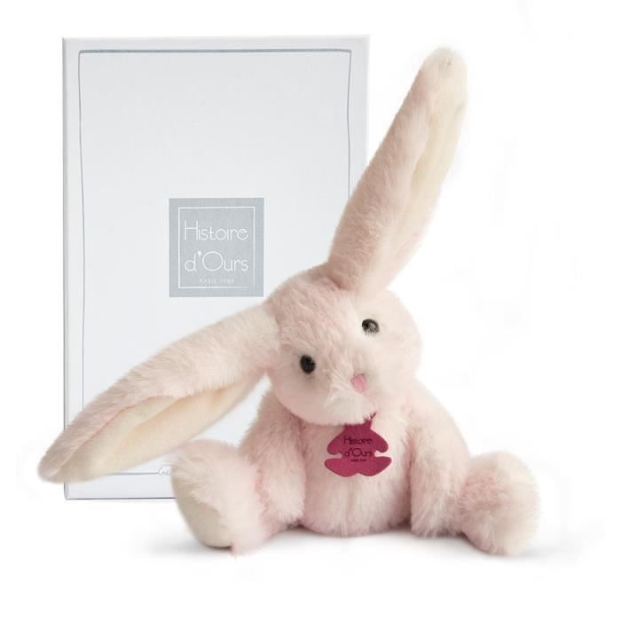 PELUCHE Fluffy - Lapin Rose PM