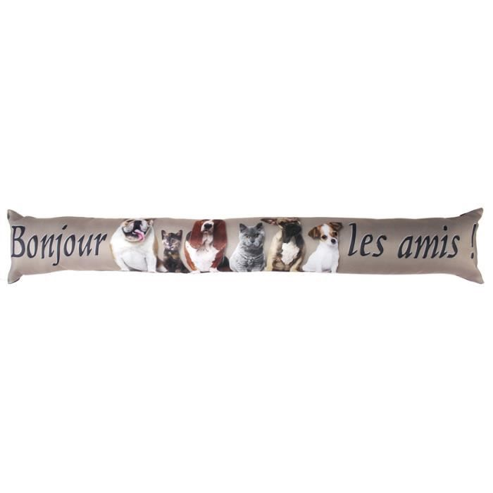 Coussin bas de porte family home taupe achat vente for Coussin bas de porte ikea