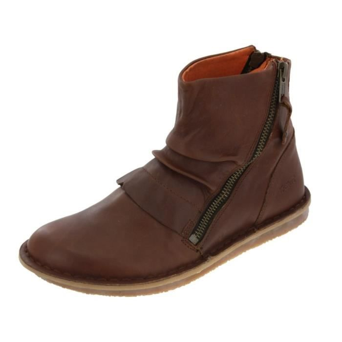 boots kickers waouh camel chaussures femme marron achat vente bottine cdiscount. Black Bedroom Furniture Sets. Home Design Ideas