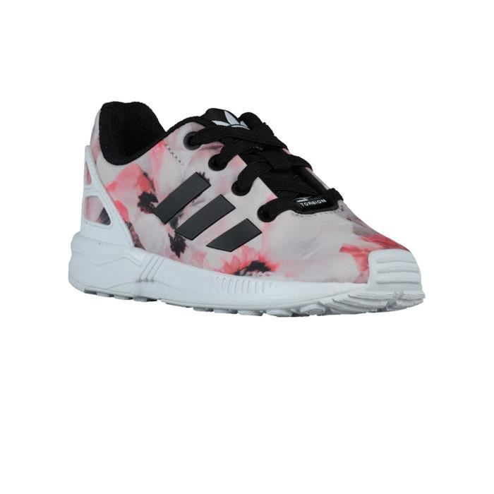 Chaussures Zx Flux Bebe Pink Flower - Adidas Multicolore - Achat