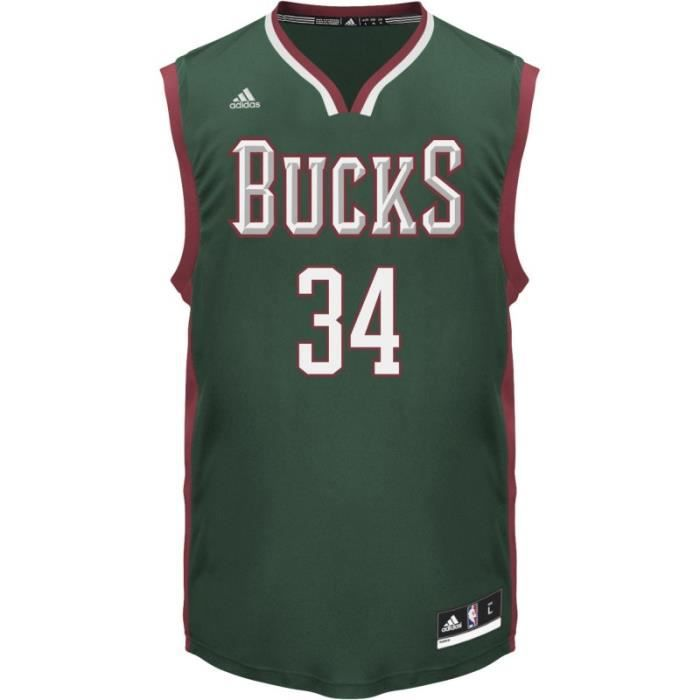 maillot adidas nba milwaukee bucks giannis antetokounmpo vert vert fonc achat vente maillot. Black Bedroom Furniture Sets. Home Design Ideas