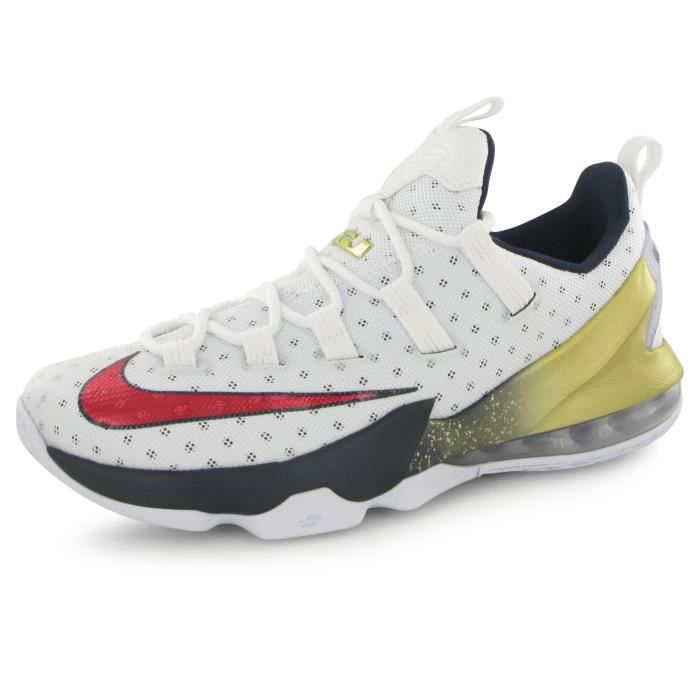 new concept cefbd fe2af Nike Lebron Xiii Low blanc, chaussures de basketball homme