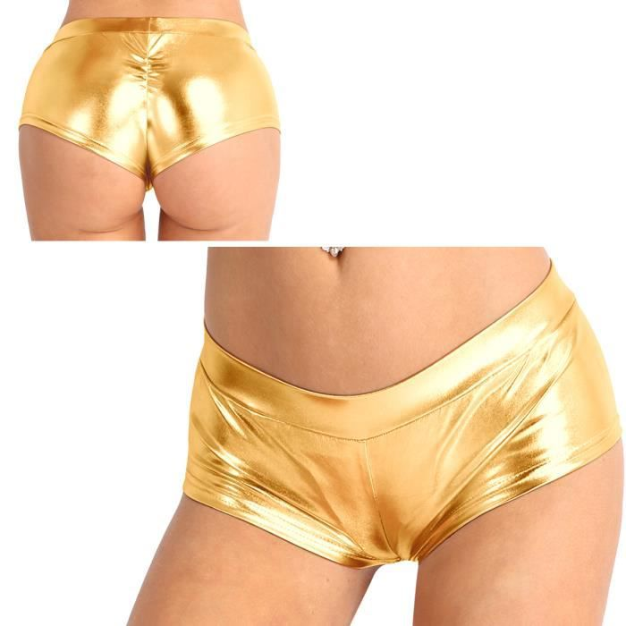 Pour Shorts Mode Basse Or Pantalons Danse Chauds Culotte Femmes Taille Costumes xU6OwcaZq0