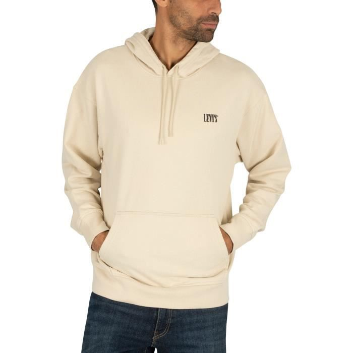 sweatshirt beige homme