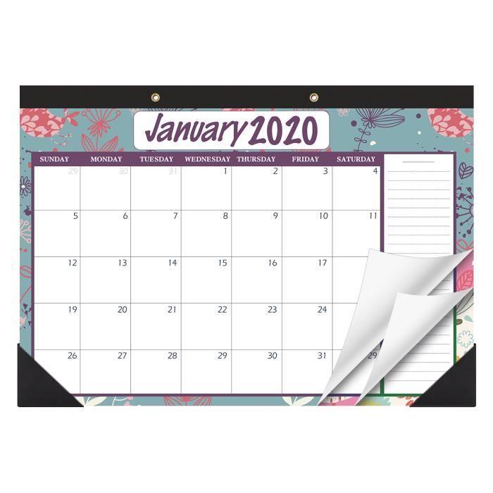 2020 à 2021 calendriers de bureau vintage suspendus 2 ans livre