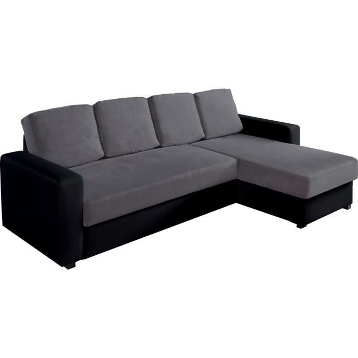 canap d 39 angle convertible r versible avec coffre switsofa sofia microfib. Black Bedroom Furniture Sets. Home Design Ideas