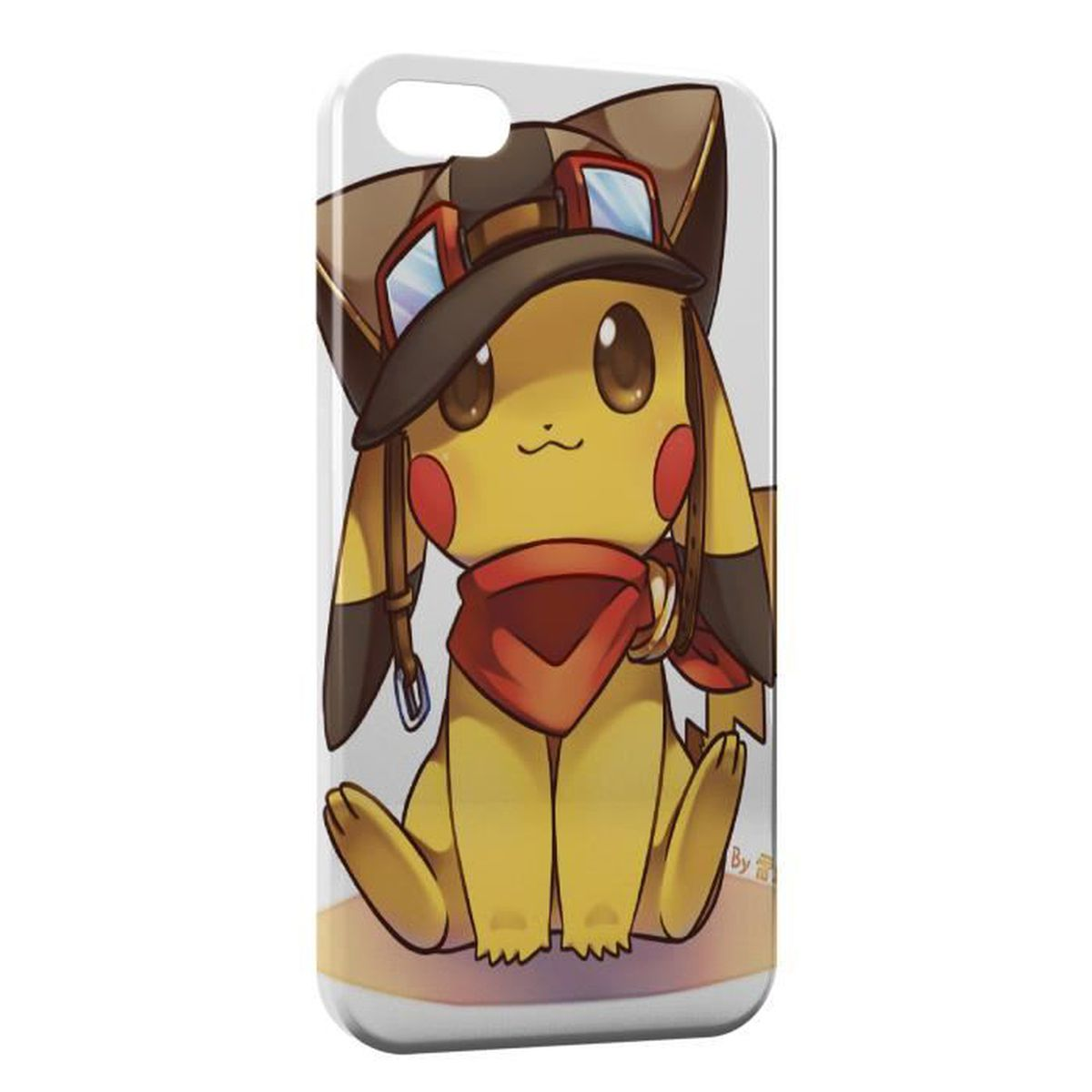 coque iphone se pikachu aviateur pokemon cute