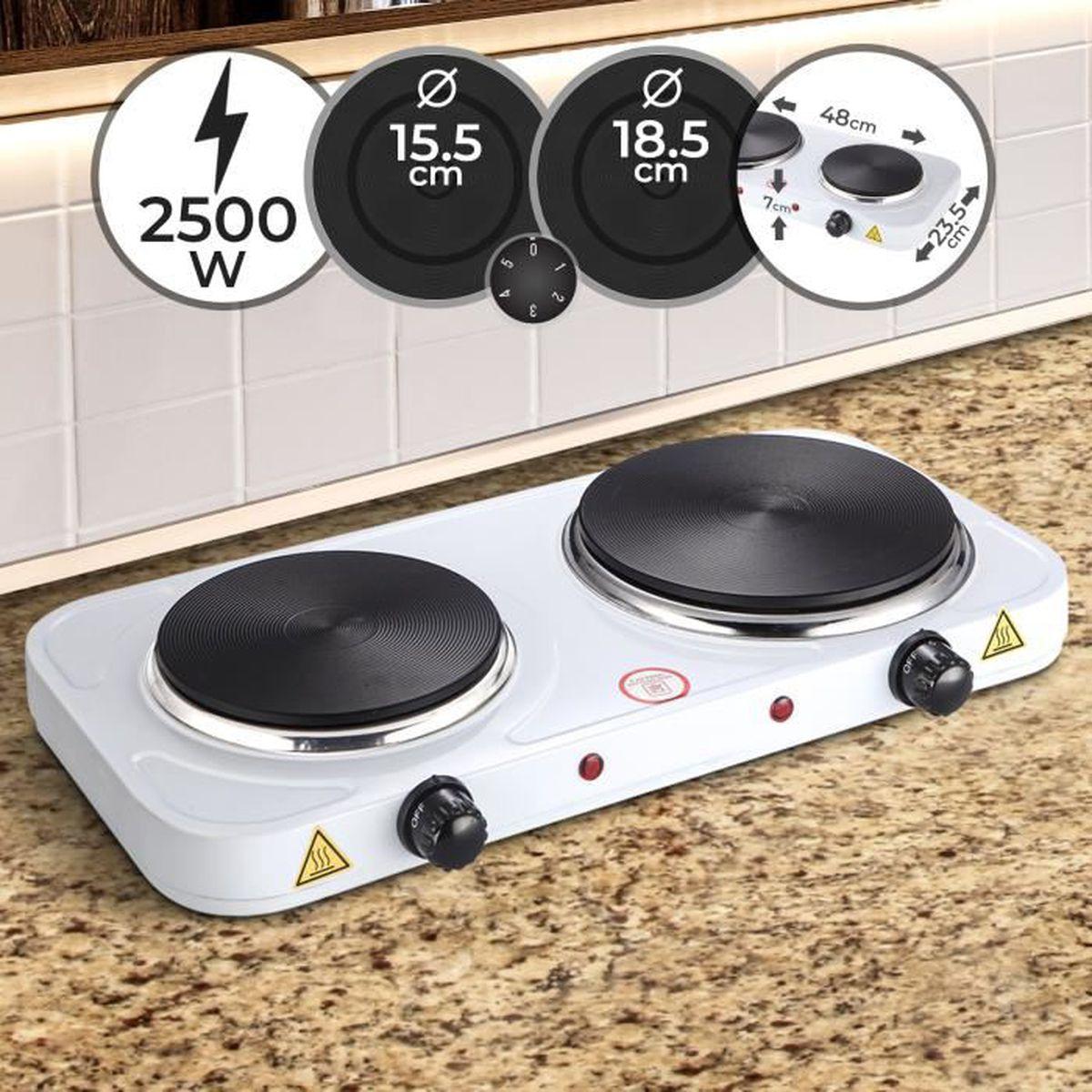 15,5 cm électrique de cuisson DESIGN-Double plaque chauffante Plaque de cuisson 2 plaques Ø 18,5