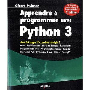 LIVRE PROGRAMMATION Apprendre à programmer avec Python 3