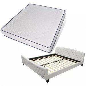 LIT COMPLET Lits et cadres de lit vidaXL Lit double avec matel