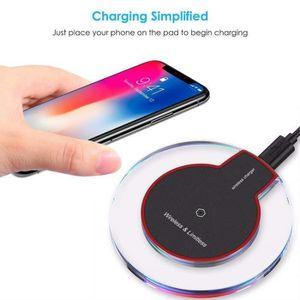 CHARGEUR TÉLÉPHONE Qi Chargeur sans fil Rapide Chargeur Noir pour iPh