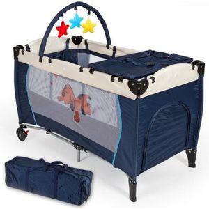 LIT PLIANT  WISS-Bleu Lit parapluie Lit bébé pliant, Lit de vo