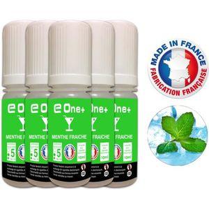 LIQUIDE 5 E-Liquides 10ml MENTHE FRAICHE 5 mg/ml fabricati