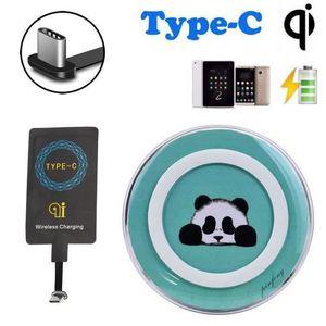 CHARGEUR TÉLÉPHONE QI Chargeur sans fil + USB 3.1 Type-C Autocollant
