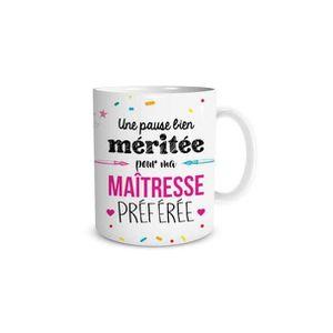TASSE Mug Je suis une maîtresse qui déchire cadeau fin d/'année scolaire