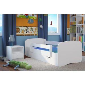 LIT COMPLET LIT ENFANT 70 CM x 140 CM AVEC BARRIERE DE SECURIT