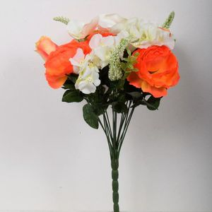 FLEUR ARTIFICIELLE FLOW Bouquet de fleurs artificielles orange - 40 c