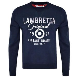 Lambretta Homme Bleu Marine Rétro Cible T Shirt