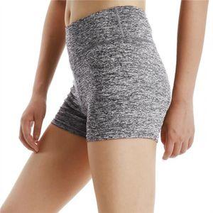 PANTALON DE SUDATION Fitibest femmes taille haute Short Yoga, gris clai