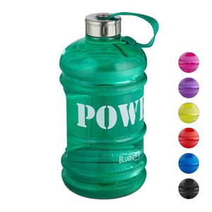Gym 2,2 l // 3,78 l Pour le fitness Sport Sans BPA Bouteille deau de 2,2 l Anti-fuite Grande bouteille de sport SLUXKE Bouteille deau de sport