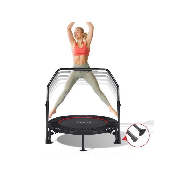 Toncur 40 Mini Trampoline pliable, Fitness Rebounder avec 5 niveaux réglables poignée en mousse pour les adultes ou les enfants