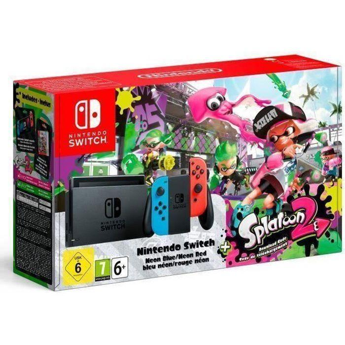 CONSOLE NINTENDO SWITCH Console Nintendo Switch avec paire de joy-con bleu