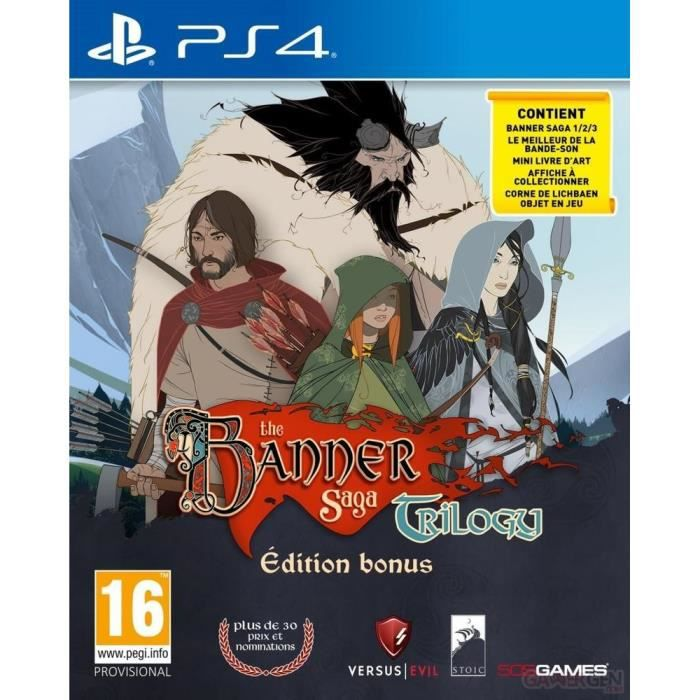 The Banner Saga Trilogy Edition Bonus Jeu PS4
