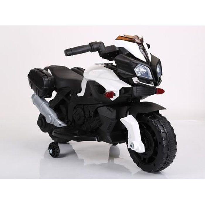 Moto Naked 6v Blanc - Moto électique pour enfant avec batterie
