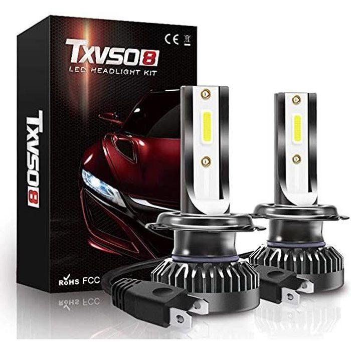 TXVSO8 Phares de voiture à LED H7 pour lampe LED auto 12V 36W 8000LM adaptables à tous les modèles 2PCS