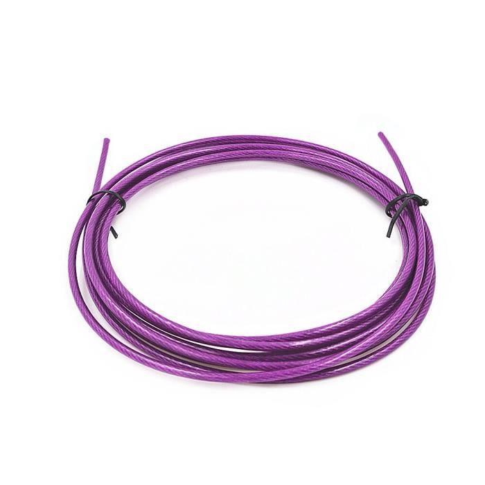 Câble de rechange Crossfit, 3m, en acier, remplaçable, pour saut de vitesse, couleur rouge, bleu et noir [ED37008]