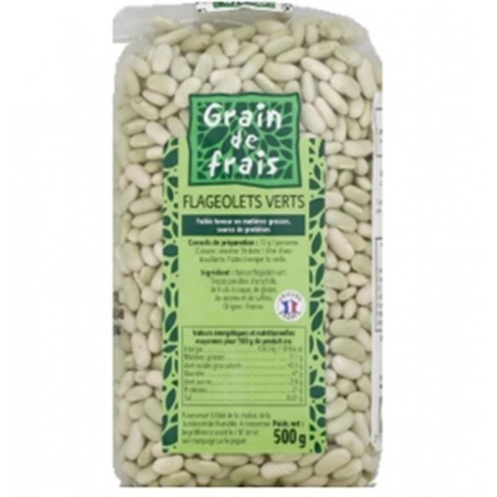 Flageolet vert France - Grain de Frais - paquet 500g