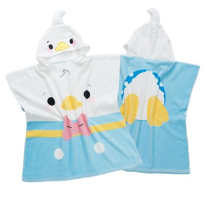 Serviette Poncho enfants piscine serviettes garçon fille natation Poncho Surf peignoir com - Modèle: 60x60cm 60x60cm  - TEYYMJA06362